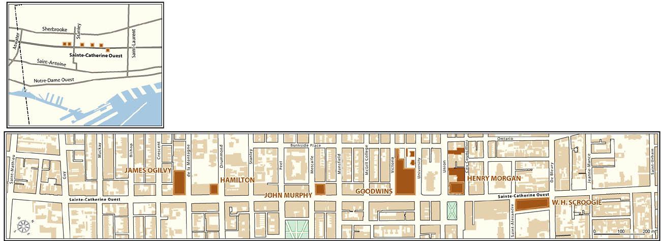 Industrialisation de montr al la rue sainte catherine - Magasins rue sainte catherine ...